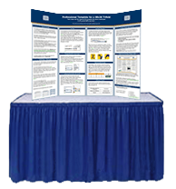 presentation table tri fold