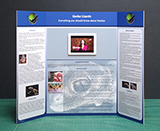 Professional trifold poster board